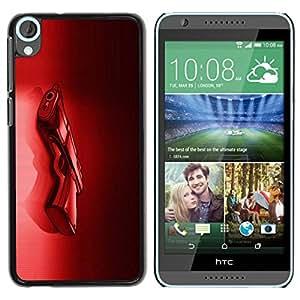 Paccase / SLIM PC / Aliminium Casa Carcasa Funda Case Cover para - Red Shoot Crime Black Passion - HTC Desire 820