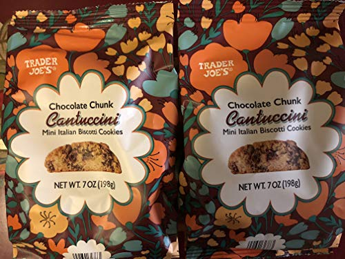 Trader Joe's - 2 Pack -Chocolate Chunk Cantuccini Mini Italian Biscotti Cookies, NET WT. 7 OZ (198g) ()