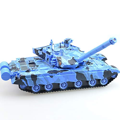 Luccky Blue Tank Toy German Tiger Pull Back Car British Armoured Tank Chieftain Large Friction Tank Die Cast Model Tanks Realistic Japan Vietnam War Military Battle Vehicles Xmas Gift for Kids Childre