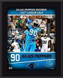 "Julius Peppers Carolina Panthers 10.5"" x 13"" Sublimated 150 Career Sacks Plaque - Fanatics Authentic Certified"