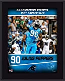 "Julius Peppers Carolina Panthers 10.5"" x 13"" Sublimated 150 Career Sacks Plaque - NFL Player Plaques and Collages"