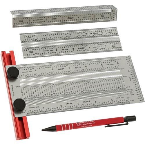 Incra IRSET06 6-Inch Marking Rule Set (Incra Tools)