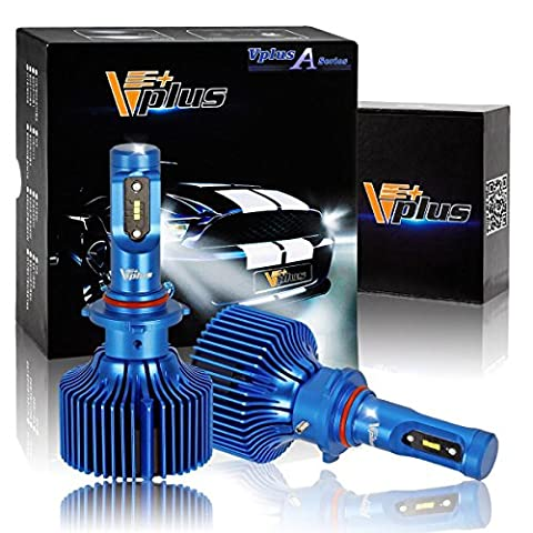 Vplus A Series 9005 HB3 LED Headlight Bulbs Clear Arc-Beam Conversion Kit 8,400LM 6500K Seoul Chip All in One Headlamp Detachable Without Built-in Driver/Adjustable Light Pattern LED Replacement(2pcs)