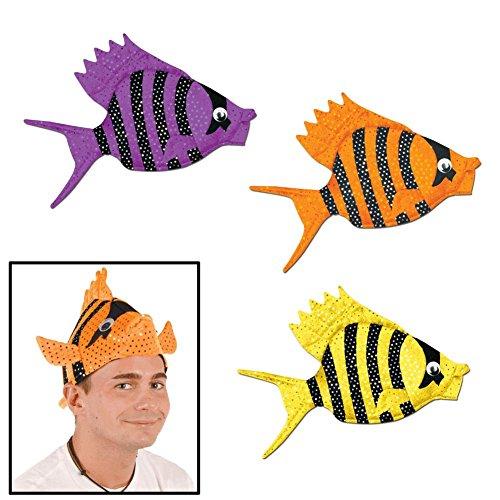 Luau Fish Hats (asstd colors) Party Accessory  (1 count) (1/Pkg)