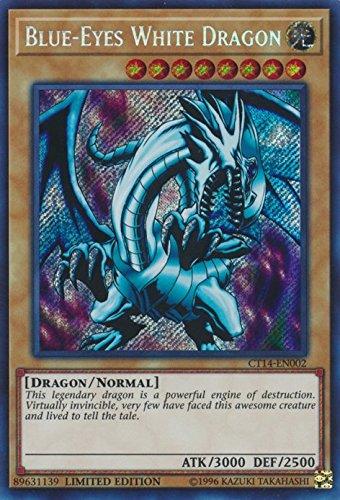 (Blue-Eyes White Dragon - CT14-EN002 - Secret Rare - Limited Edition - 2017 Mega-Tins Promos (Limited)
