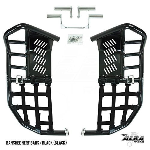 - Yamaha Banshee YFZ 350 (1987-2006) Propeg Nerf Bars Black with Black Net (More Net Color Choices Available)
