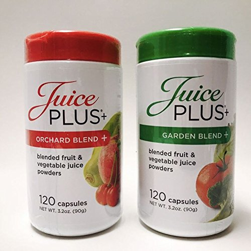 Juice Plus+ Orchard Blend & Garden Blend Capsules 3.2 oz. (1 Bottle Each/120 Capsules) …