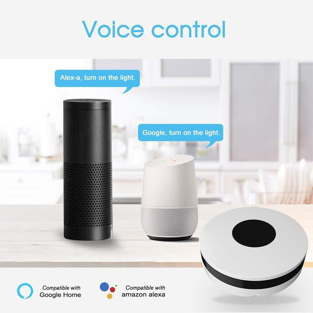 Habilitado Infrarrojo Universal Control Remoto Inteligente para Aire Acondicionado TV Usando App Tuya Smart Life Compatible con Alexa Google Home 2.4Ghz OWSOO WiFi IR Remoto IR Control Hub Wi-Fi