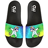 Cartoon Cute Dabbing Unicorn Summer Slide Slippers For Boy Girl Outdoor Indoor Beach Casual Sandals Shoes