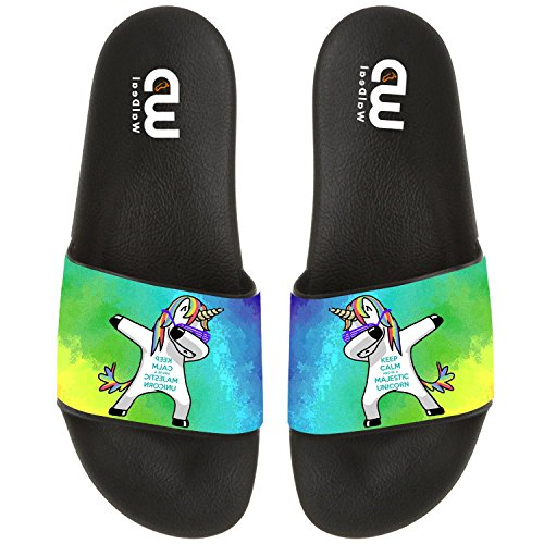 Cartoon Cute Dabbing Unicorn Summer Slide Slippers For Boy Girl Outdoor Indoor Beach Casual Sandals Shoes by OriginalHeart (Image #4)