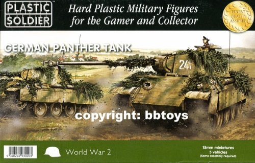 Plastic Soldier 15mm WW2 German Panther # WW2V15012 by Plastic Soldier Company
