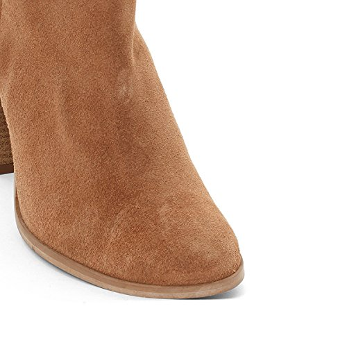 La Redoute Collections Frau Lederboots mit Aztekenmuster Gre 38 Braun