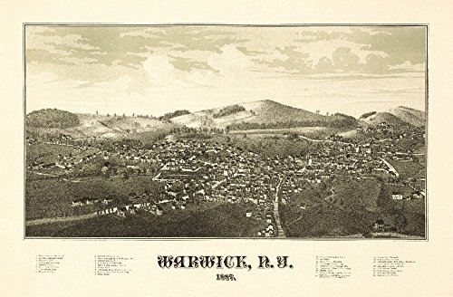 Warwick, New York - Panoramic Map (16x24 SIGNED Print Master Giclee Print w/ Certificate of Authenticity - Wall Decor Travel ()