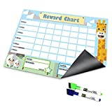 Board Wx Reward and Responsibility Chart for Toddlers Magnetic Dry Erase for Fridge 12 x 17 Inch
