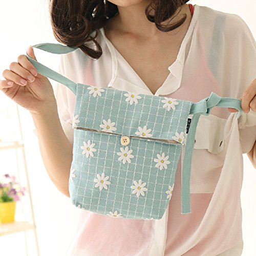 Girls Crossbody Bag, Urmiss Cute Lovely Sweet Daisy Chrysanthemum Pattern Canvas Small Shoulder Bag Mini Messenger Bag Crossbody Purse for iPhone 6 7 Plus