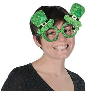Beistle 30361 Glittered Leprechaun Hat Glasses