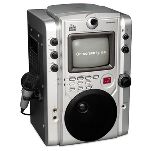 Singing Machine STVG-520 Top Loading CDG Karaoke System With Monitor for Scrolling Lyrics plus Video Camera - ()