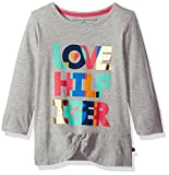 Tommy Hilfiger Girls' Big Love Hilfiger Tee, Pearl Heather, Small
