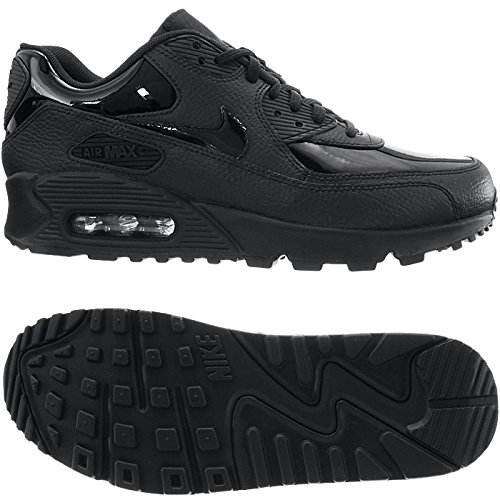 Air Black WMNS Nike Max Gymnastique Chaussures black Noir 90 Femme Leather de 002 Black 54wqxPw