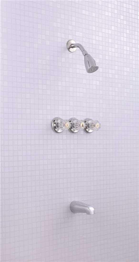 Premier 3552586 Concord Three-Handle Tub /& Shower Faucet 7.891 x 7.891 x 7.891 Chrome