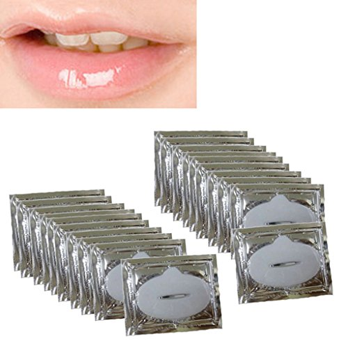 Lips Mask, Hatop 20x skin care Crystal Collagen lip Mask lip care pads Moisture wrinkle patch pad