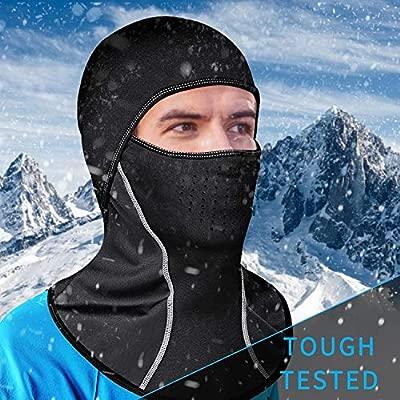 CestMall Ski Mask Polar Fleece Balaclava Face Mask Biking Motorcycling Winter Skiing Dustproof Waterproof Windproof Warm Keeping Anti-Fog And Haze Flexible Breathable for Men Women