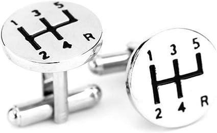Leisial Gemelos de Acero Inoxidable Sencillo Botones de la Joyería para Accesorios de la Camisa de Hombre Mujer 1 Par