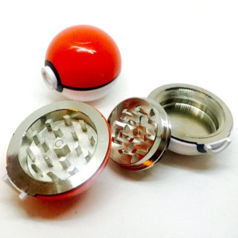 "Pokemon Poke-ball Herb Spice Grinder Aluminum 3 pc 40mm (1.5"") (1)"