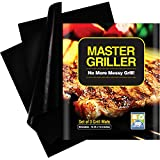 SAY GOODBYE TO MESSY GRILLS AND FOOD LOST IN THE GRILL!MasterGrill Grill Mats are constructed with a safe PTFE-Fiberglass coating and are heat resistant up to 500 degrees Fahrenheit.Food slides off the non-stock surface, without the need for added oi...