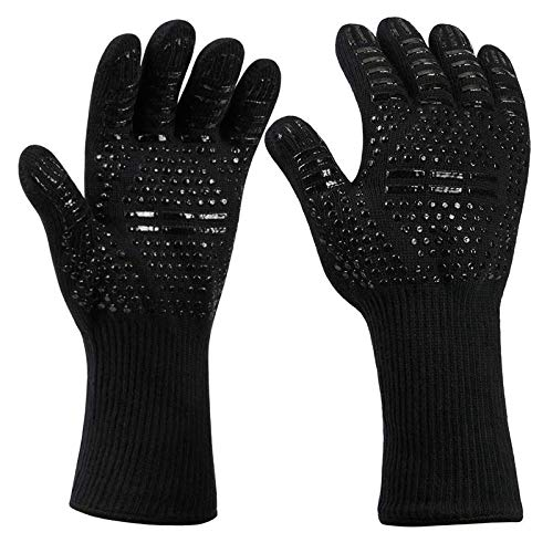 TD-OUTGO Outdoor BBQ Gloves Double Sided High Temperature Resistant Anti-Slip Indoor Microwave Oven Camping Hand Gloves Guard Cover
