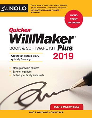 Quicken Willmaker Plus 2019 Edition: Book & Software Kit (Best Way To Get A Tan)