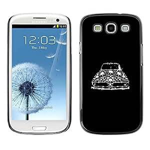 rígido protector delgado Shell Prima Delgada Casa Carcasa Funda Case Bandera Cover Armor para Samsung Galaxy S3 I9300 /Retro Car Vintage Muscle Black Skull/ STRONG