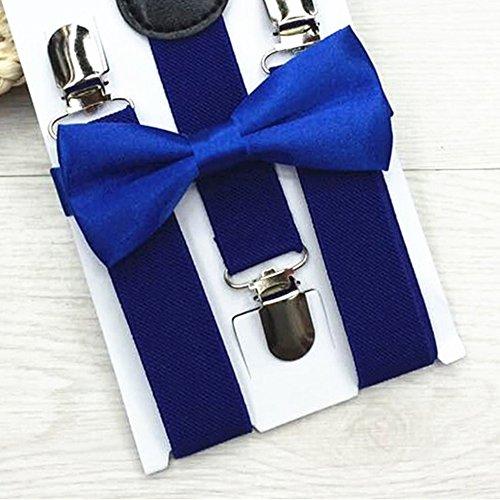 Dailyinshop Polyester Kinder Design Hosenträger und Bowtie Fliege Set passende Krawatten Outfits