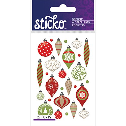 Sticko Christmas Ornaments Stickers (Scrapbooking Ornament)