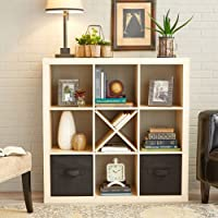 Better Homes and Gardens 9-cube Organizer Storage Bookcase Bookshelf Birch