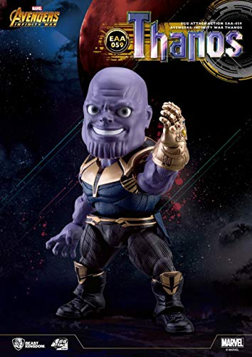 Beast Kingdom Egg Attack Original Thanos Bobble Head Mini Collectible Figure Action Figurine Toys Avengers 3 Infinity War Marvel Disney Cartoon Gifts Kids Boys Comics Animation Derivative