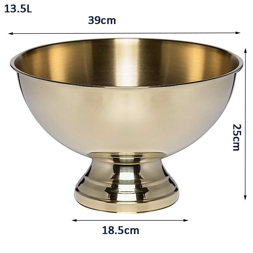 Champagner-Topf-Edelstahl-großer Champagner-Topf-Edelstahl-großer Champagner-Topf-Edelstahl-großer Eiskübel-Kühler-Eimer-große Kapazitätsstange FENGMING (Farbe   Silber, größe   13.5L) B07P9QTT1S Cocktailshaker b77d2f