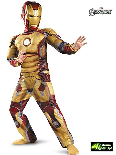 Iron Man Mark 42 Muscle Light Up Costume for -