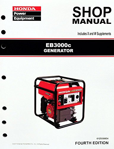 Honda EB3000 Generator Service Repair Shop Manual - Eb3000c Honda