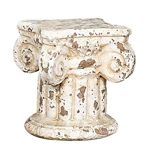 Terracotta Pedestal Stand Plant Pair Style Antique Vintage Marble Pedestals Stands by KJE Global