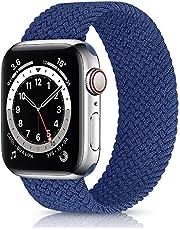 KLUCK Gevlochten Solo Loop armband compatibel met Apple Watch Series 1/2/3/4/5/6/SE