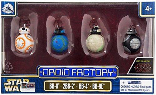 Star Wars The Last Jedi Droid Factory Figures 4-Pack (BB-8, 2BB-2, BB-4 & BB-9E) Disney Parks Authentic Original - Disney Four Parks