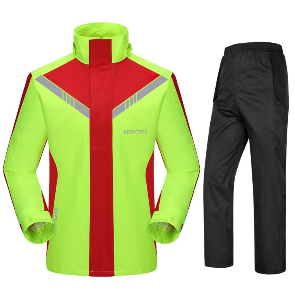 Regenmantel Wasserfeste Jacke Windjacke Split Regenbekleidung Sportbekleidung Mit Kapuze Leicht Warm Hohe Sichtbarkeit zum Erwachsene zum Reise Sport Klettern Ski Wandern