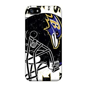 Shock Absorbent Hard Cell-phone Cases For Iphone 5/5s (Upa4200ZeRX) Allow Personal Design Vivid Baltimore Ravens Skin