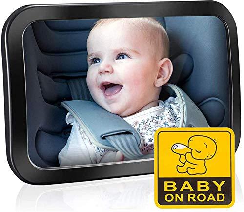 Specchietto Retrovisore Bambini Grande, Specchietto Auto Bambino, Specchietto Neonato Regolabile per Sicurezza… 1