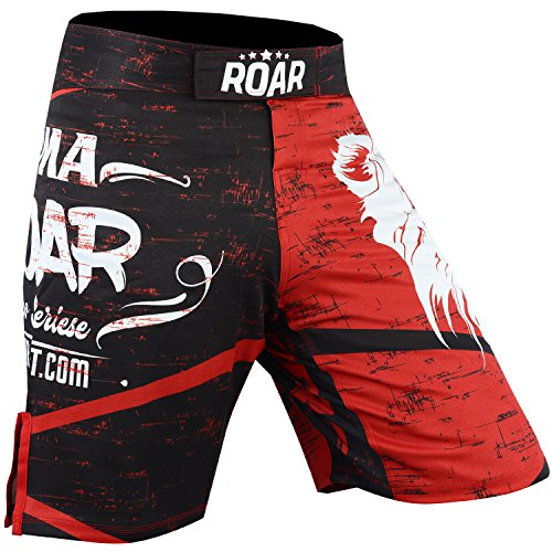 Roar MMA Boxing Shorts Mixed Martial Art Muay Thai BJJ Grappling UFC Fighting (X-Large, Lion)