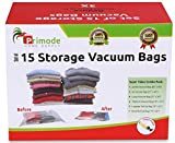 Primode Space Saver Vacuum Storage Bags, 15 Count Value Pack - Saves Space & Protects Clothing Easy-to-Use (Set of 15)