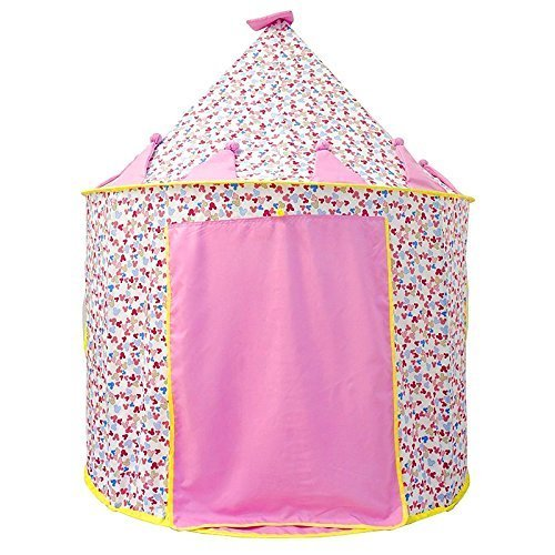 Latest Cotton Version Princess Castle Play Tent for Child Best Christmas Birthday Gift, Your Baby will Enjoy this Foldable Play playhouse/Ball Pit Toy for Indoor & Outdoor Use - Girl Tents