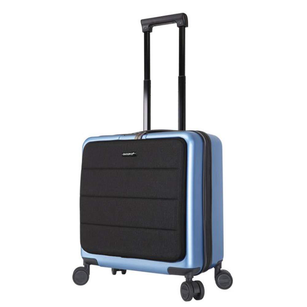 スーツケース荷物ハードシェルトラベルバッグ軽量4スピナーホイールPc素材3層複合抗圧縮構造 42*23*47cm B07SKHRBBR Blue