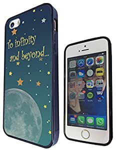 Moon And Stars To infinity and beyond Cute design iphone 5C Carcasa Diseño Fashion Trend Caso Gel Rubber Durable